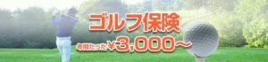 ゴルフ保険 年間3,000円から